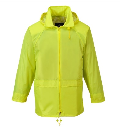PORTWEST Mens Classic Rain Jacket in Yellow