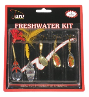 JURO Freshwater Lure Kit - 5 piece