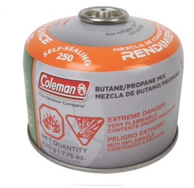 COLEMAN Gas Butane/Propane Cartridge Self Sealing 220g