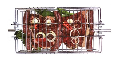 OUTDOOR MAGIC Adustable Grill Basket