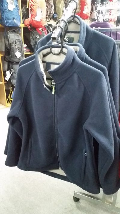 GUM AUSTRALIA Sherpa Mens Fleece Jacket in Navy