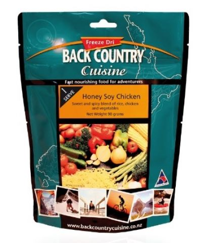 BACK COUNTRY Honey Soy chicken Freeze Dry Food Single Serve
