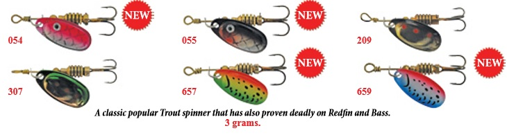 JURO Alpine Spinner Lures Various Colours