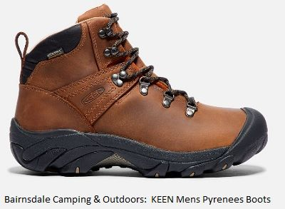 KEEN Mens Pyrenees Walking Boots in syrup colour