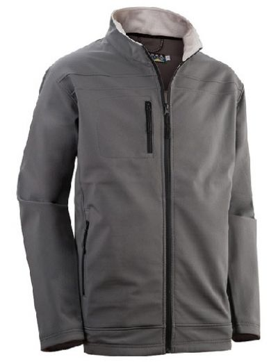 SIERRA Mens Kevin Softshell Jacket in Grey
