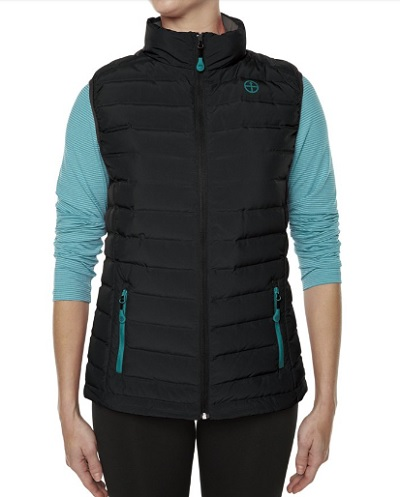 VIGILANTE Ladies Gear-Shift Down Vest in black