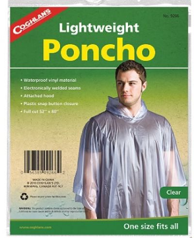 Poncho - Lightweight and Clear