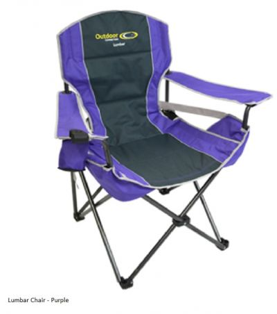OUTDOOR CONNECTIONS  Lumbar Chair Purple Colour 130KG