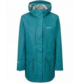 CRAGHOPPERS Womens Madigan Long Line Jacket in Peacock