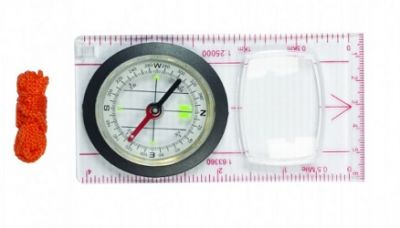 Map Compass Base Plate 11 x 6.5cm