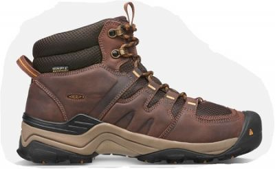 KEEN Mens Gypsum II Mid Water Proof Walking Boot in coffee bean and bronze mist colour