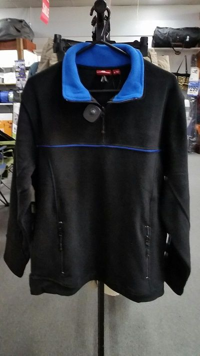 ADVENTURELINE Mens Marlin Half Zip in Black and Ocean