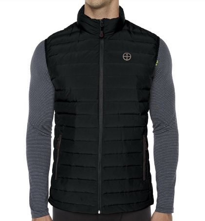 VIGILANTE Mens Midson Down Vest in black