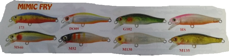 JURO Mimic Fry Lure - Various Colors