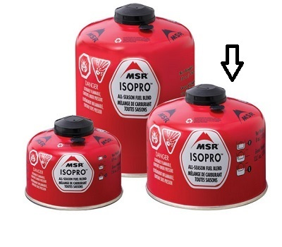 MSR IsoPro All Season Fuel Blend Gas 227g 8oz