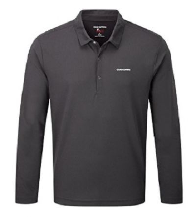 CRAGHOPPERS Nosilife Nemia Mens Polo Black Pepper