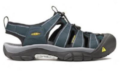 KEEN Mens Newport H2 Sandal in navy/grey