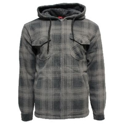 ADVENTURELINE Mens Nomad Hoodie in Charcoal Check