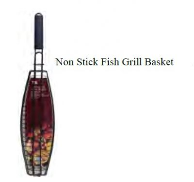OUTDOOR MAGIC Non Stick Fish Grill Basket