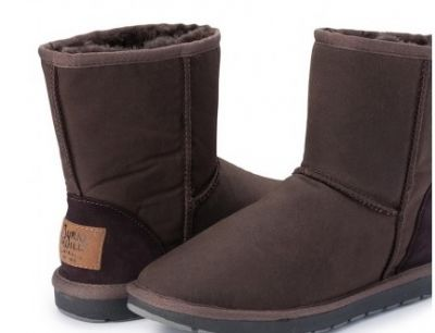BURKE & WILLS Woolly Oilskin Boots Brown