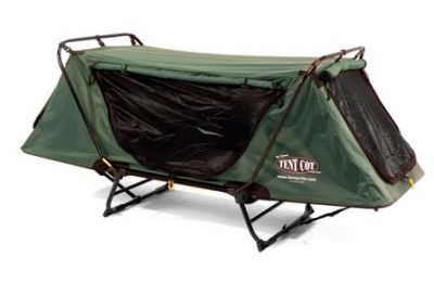 KAMPRITE Tent Cot with Waterproof Rain Fly