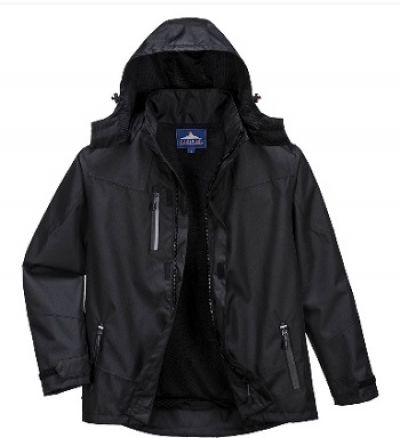 PORTWEST Mens Outcoach Jacket in Black