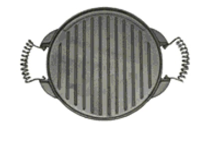 RAMBO Round Double Sided Grill Plate