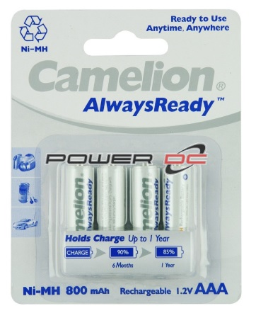 CAMELION Rechargeable AAA Batteries 800mAH 1.2V 4 pack