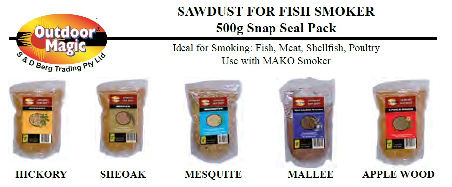 Sawdust for Fish Smoker Mallee Wood 500g New Outdoor Magic