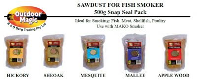OUTDOOR MAGIC Sawdust for fish smoker 500g