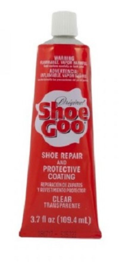 SHOE Goo Repair adhesive and protective coating for shoes