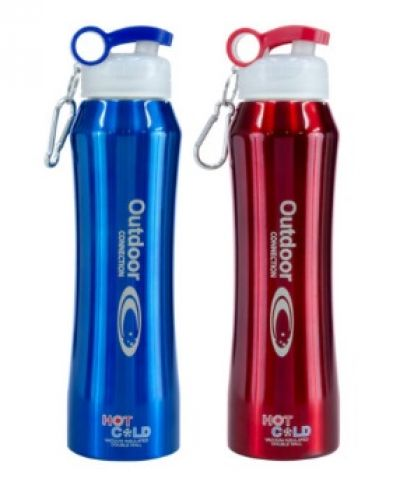 OUTDOOR CONNECTIONS Vaccum Insulated Sports Bottle 600ml