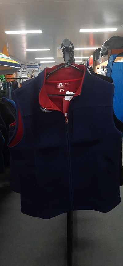 ADVENTURELINE Ladies Glacier Vest in Navy and Red