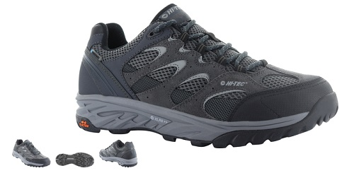 HITEC Mens Wild Fire Low Walking Shoe in charcoal and black