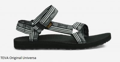 TEVA Womens Original Universal Sandal in Black and White