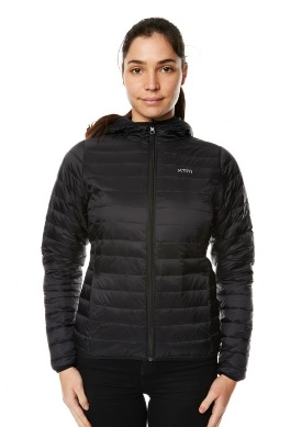 XTM Womens Hooded Stuff It Jacket in black